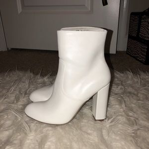 Shoes - White ankle booties